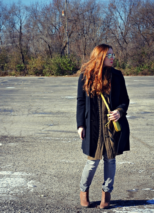 oversized cardigan for cold winter days