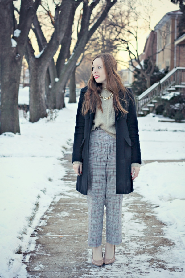 Wear to Work: Pants That Elongate, Knocked Up Fabulous, Winter Outfit